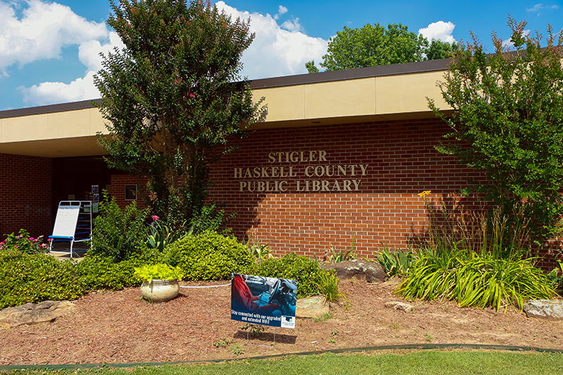 Stigler-Haskell County Public Library exterior