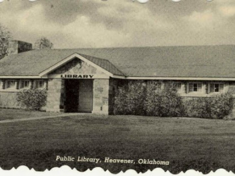Heavener Public Library Historic Photo