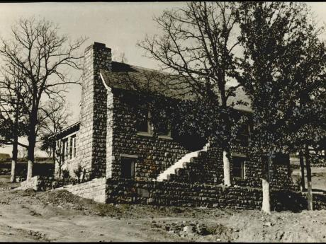 Historic Photo of Old Poteau Public Library (Taken 1936-1937)